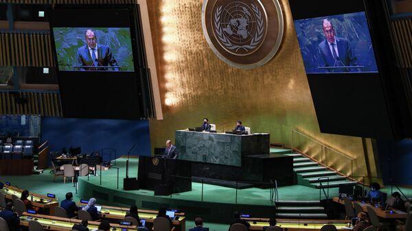 Выступление С. Лаврова на общеполитической дискуссии 76-й сессии ГА ООН - Sputnik Узбекистан