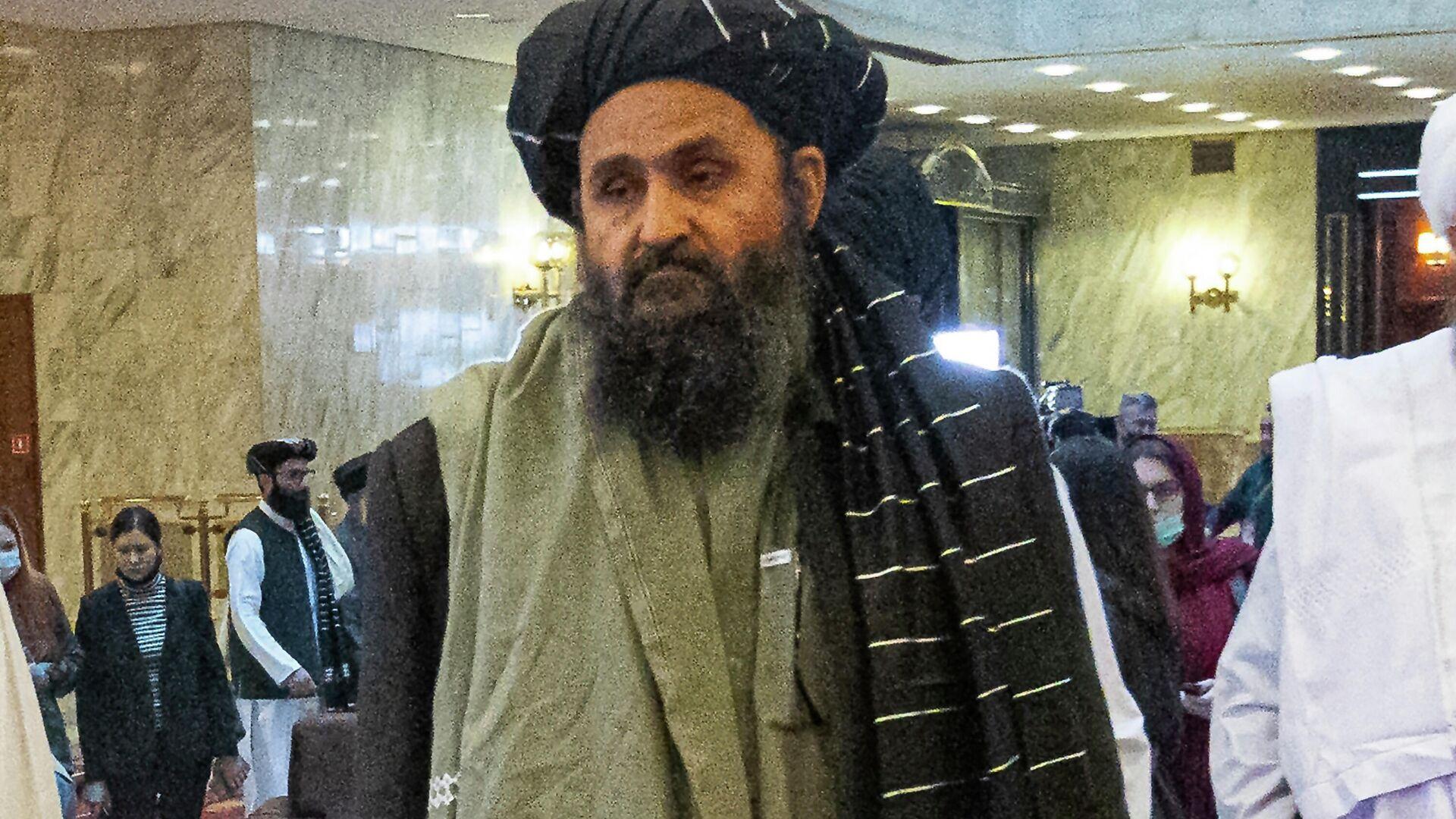I.o. zamglavы sformirovannogo dvijeniyem Taliban* pravitelstva Afganistana Abdul Gani Baradar - Sputnik Oʻzbekiston, 1920, 26.09.2021