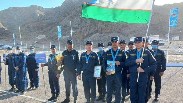 Команда МЧС Узбекистана приняли участие на международных учениях Казспас-2021 - Sputnik Узбекистан