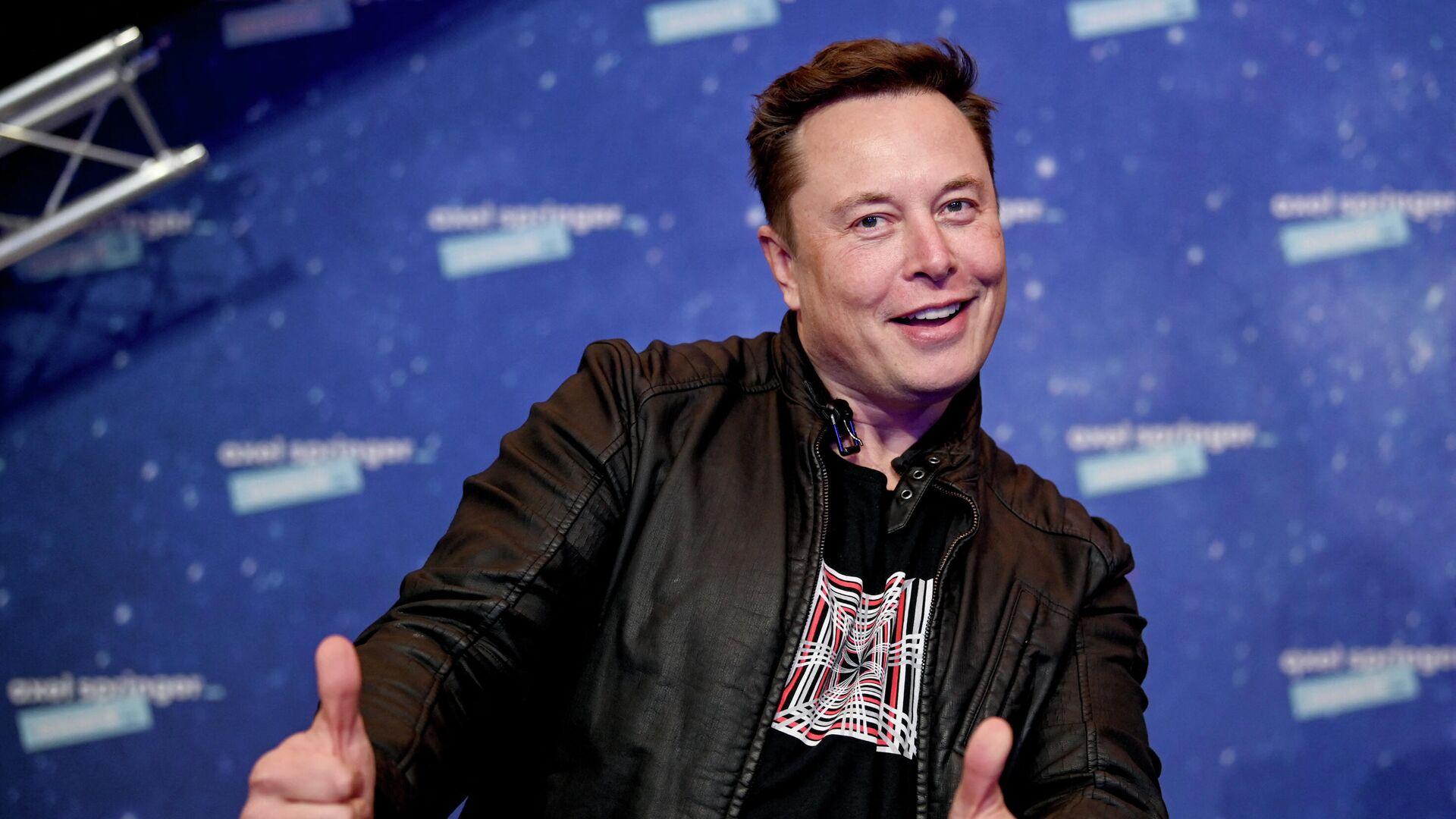 Основатель SpaceX и гендиректор Tesla Илон Маск - Sputnik Ўзбекистон, 1920, 28.09.2021