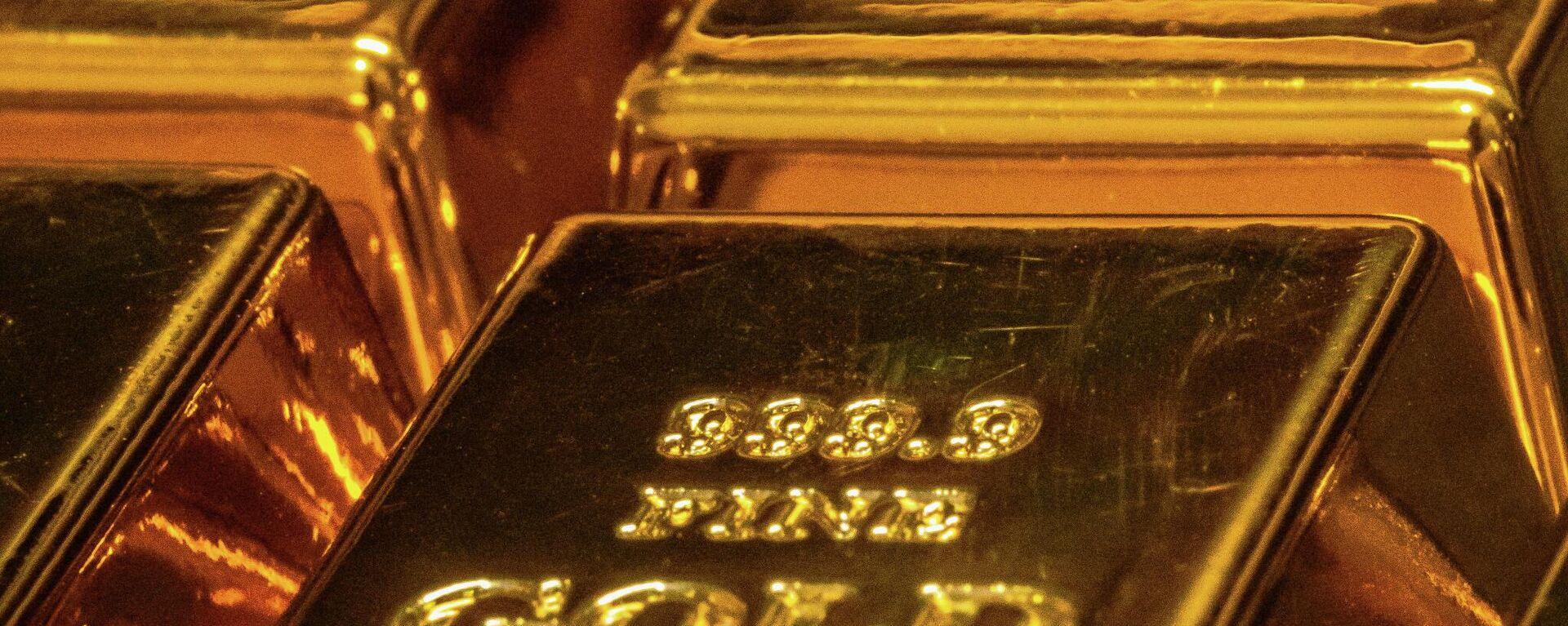 Слитки золота - Sputnik Узбекистан, 1920, 29.09.2021