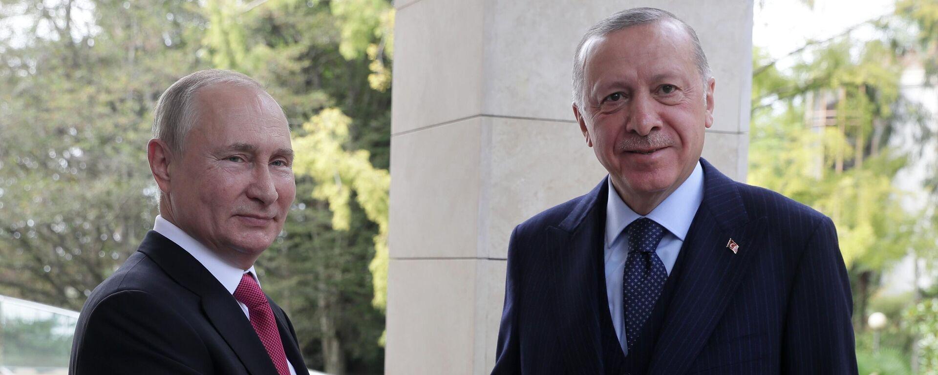 Президент РФ В. Путин провел переговоры с президентом Турции Р. Эрдоганом - Sputnik Ўзбекистон, 1920, 29.09.2021