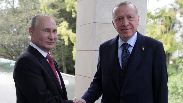 Президент РФ В. Путин провел переговоры с президентом Турции Р. Эрдоганом - Sputnik Ўзбекистон