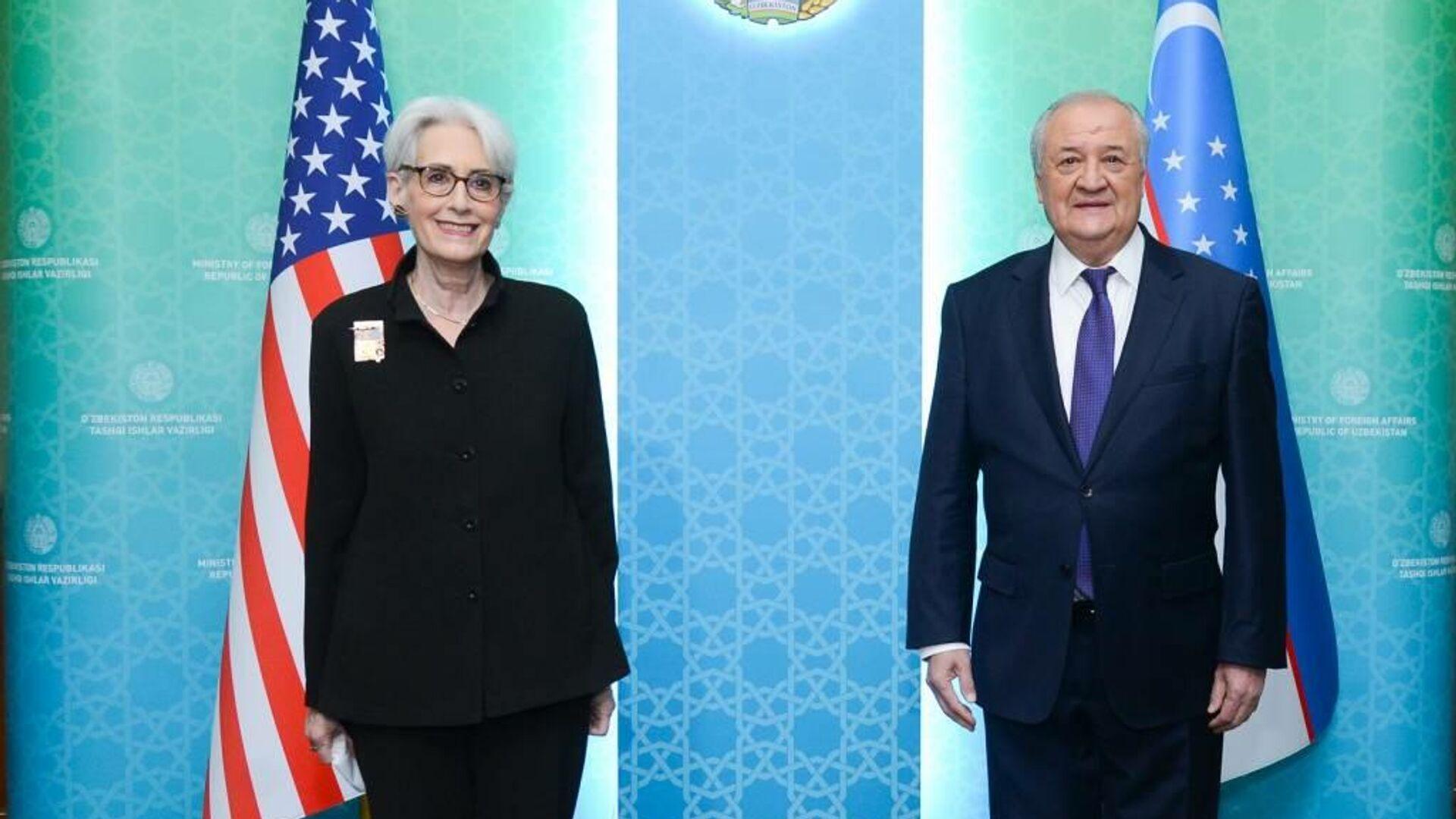 Министр иностранных дел Узбекистана Абдулазиз Камилов провел встречу с первым заместителем госсекретаря США Уэнди Шерман - Sputnik Узбекистан, 1920, 03.10.2021