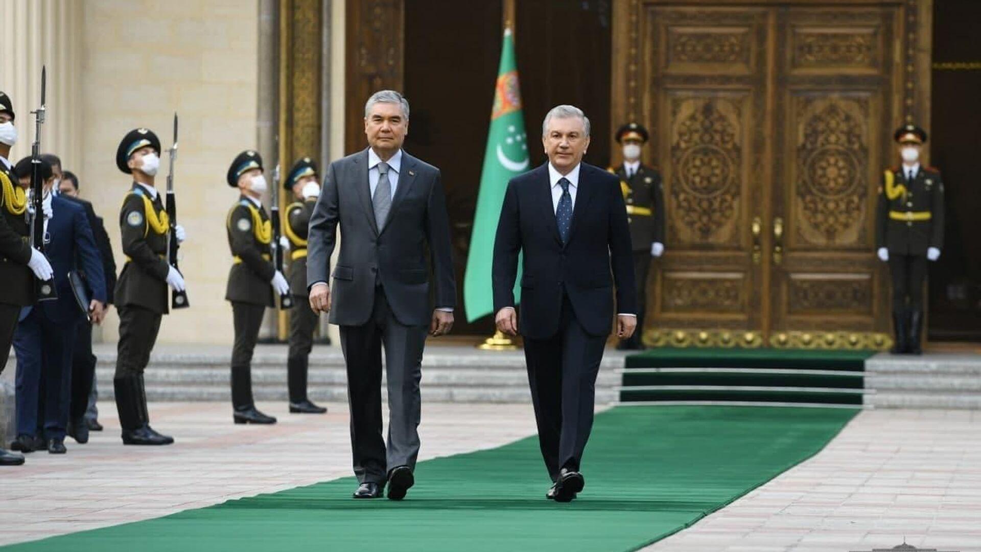 Президенты Узбекистана и Туркменистана обсудили вопросы укрепления стратегического партнерства - Sputnik Узбекистан, 1920, 05.10.2021