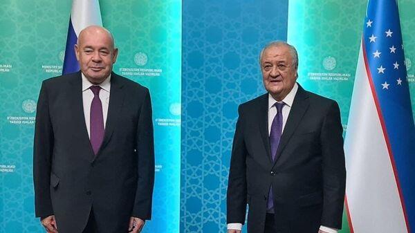 Михаил Швыдкой и Абдулазиз Камилов на переговорах в Ташкенте - Sputnik Узбекистан