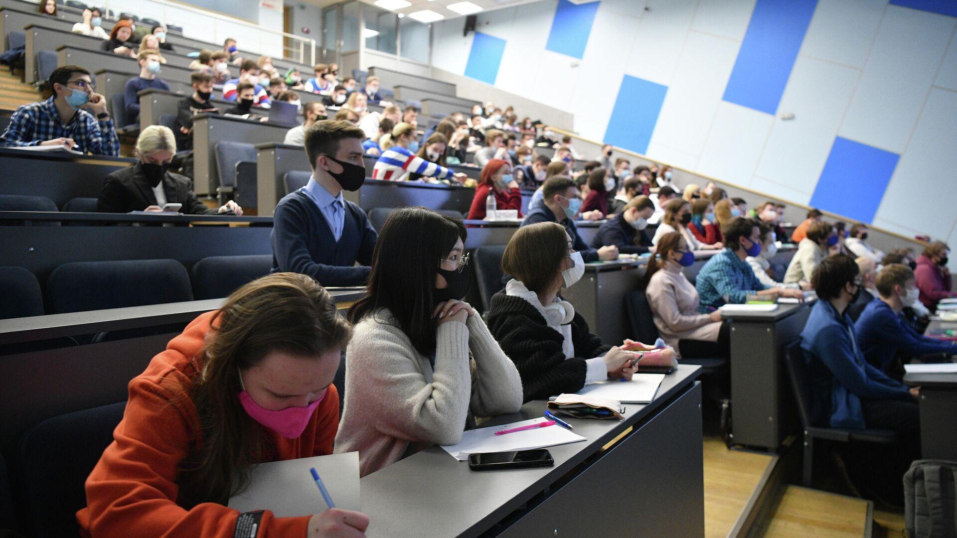 Студенты в аудитории - Sputnik Узбекистан, 1920, 13.10.2021