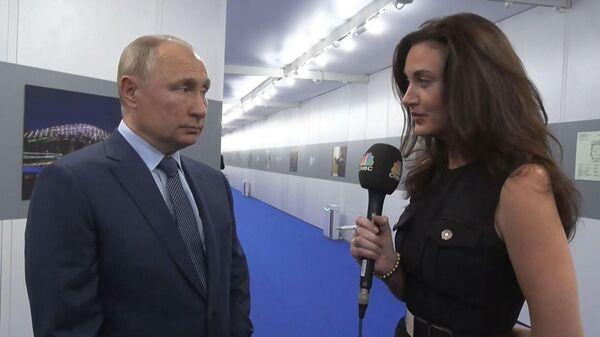 Vladimir Putin otvetil na voprosы CNBC: o chem sprosili lidera RF  - Sputnik Oʻzbekiston