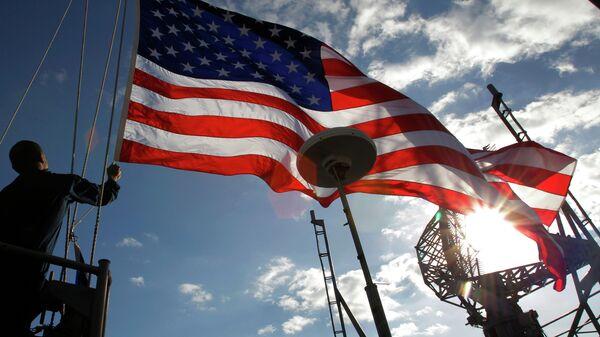 Военные с американским флагом - Sputnik Узбекистан