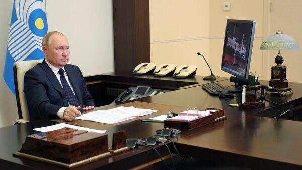 Президент РФ принял участие в заседании Совета глав государств - участников СНГ - Sputnik Узбекистан