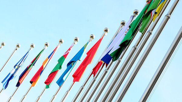 Флаги СНГ, архивное фото - Sputnik Узбекистан