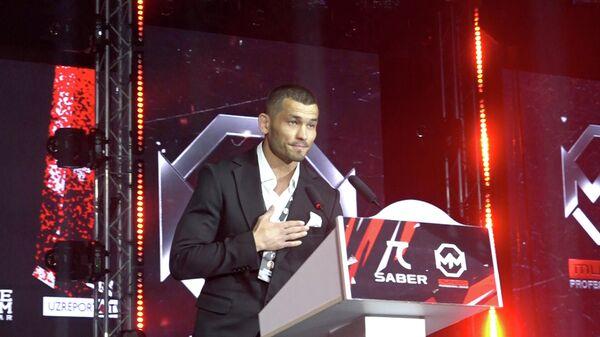 Махмуд Мурадов на открытии собственного турнира по смешанным единоборствам в Ташкенте - Sputnik Узбекистан