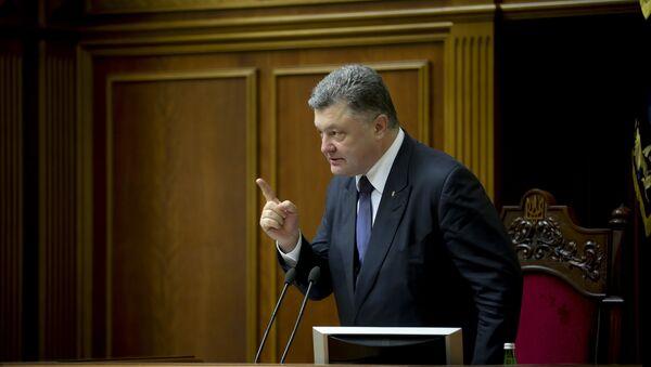 Ukraina prezidenti Petr Poroshenko - Sputnik Oʻzbekiston