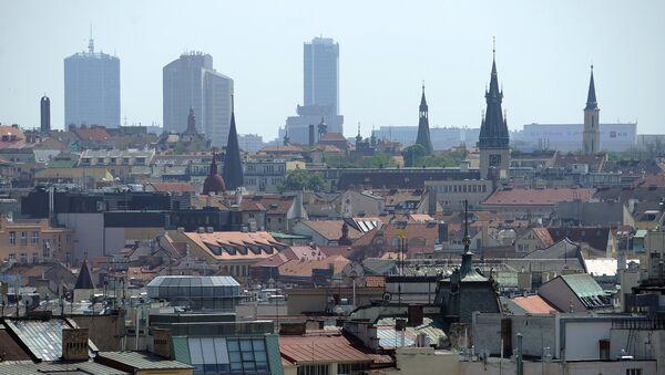 Вид на центр Праги. Чехия - Sputnik Ўзбекистон