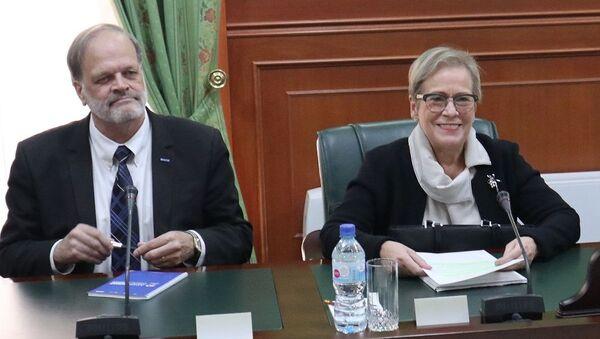 Встреча с директором Бюро ОБСЕ по демократическим институтам и правам человека (БДИПЧ) Ингибьёрг Солрун Гисладоттир - Sputnik Узбекистан