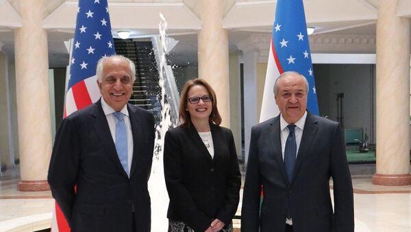 Министр иностранных дел Узбекистана Абдулазиз Камилов встретился со спецпредставителем госсекретаря США по афганскому примирению Залмаем Халилзадом - Sputnik Ўзбекистон