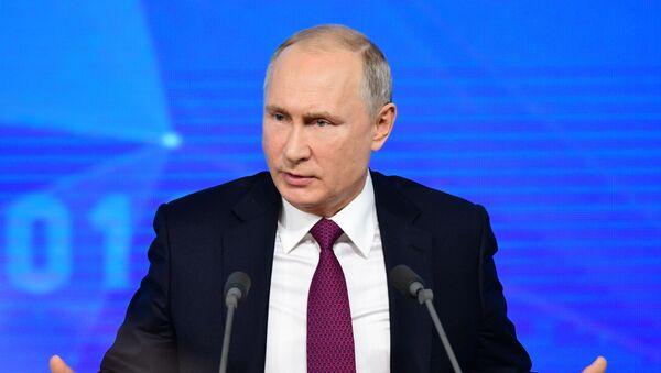 Ежегодная большая пресс-конференция президента РФ В. Путина - Sputnik Ўзбекистон