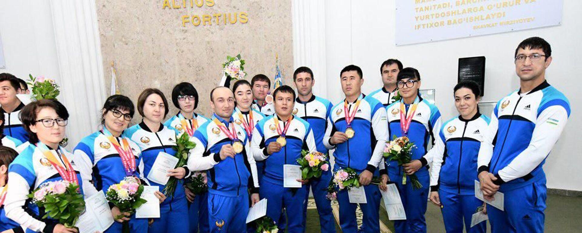 Паралимпийцы Узбекистана получили награды от президента - Sputnik Узбекистан, 1920, 18.08.2021