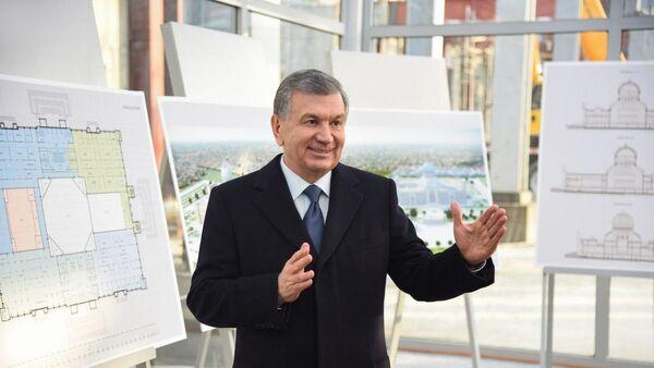 Шавкат Мирзиёев посетил место строительства Центра исламской цивилизации - Sputnik Ўзбекистон