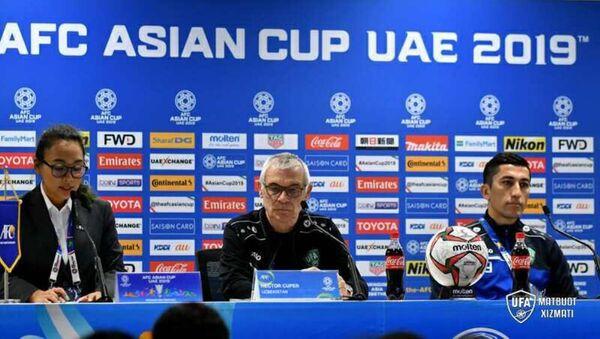 Kuper i Axmedov na press-konferentsii - Sputnik Oʻzbekiston