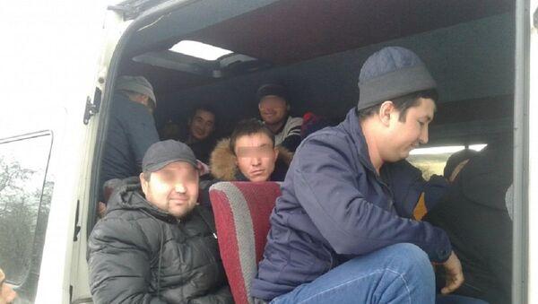 Автоинспекторы остановили микроавтобус, в котором перевозили нелегальных мигрантов - Sputnik Ўзбекистон