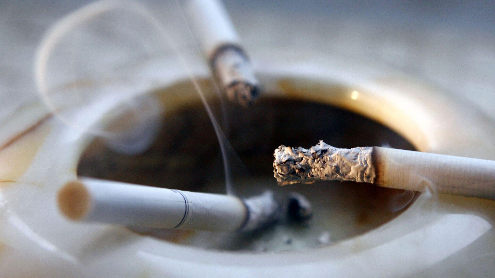 Пепельница с окурками. - Sputnik Узбекистан, 1920, 11.10.2021