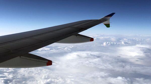 Крыло самолета Национальной авиакомпании Uzbekistan Airways - Sputnik Узбекистан