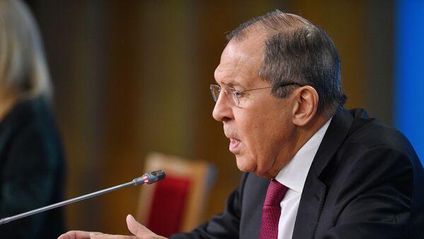 Пресс-конференция главы МИД РФ С. Лаврова - Sputnik Узбекистан