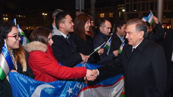 Президент Узбекистана встретился с соотечественниками в Германии - Sputnik Ўзбекистон