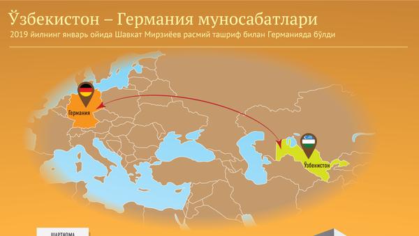 Oʻzbekiston-Germaniya munosabatlari - Sputnik Oʻzbekiston
