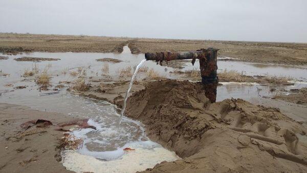 На высохшей части Аральского моря появилась вода - Sputnik Узбекистан