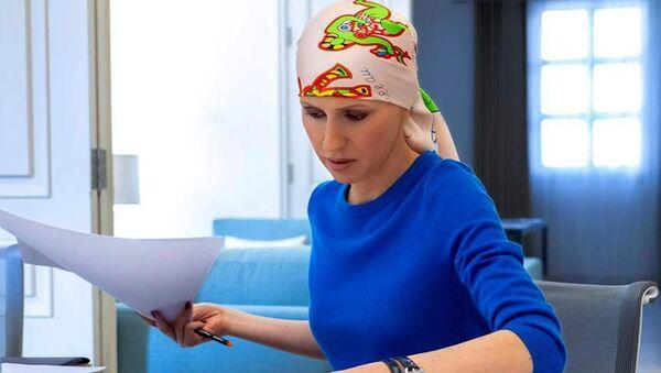 Pervaya ledi Sirii Asma Asad boretsya s rakom - Sputnik Oʻzbekiston