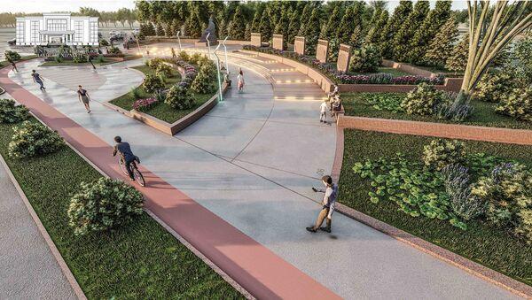 Проект благоустройства территории Национального университета Узбекистана и вузгородка - Sputnik Ўзбекистон