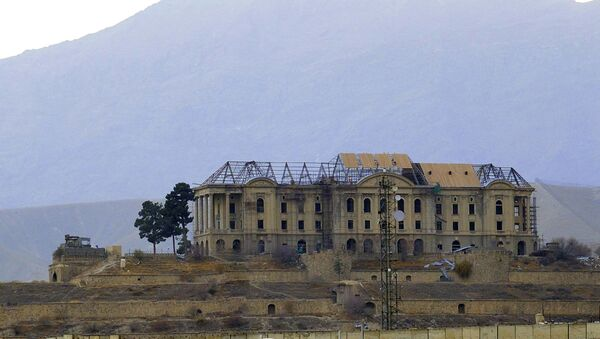 Дворец Тадж-Бек (Дворец Амина) на окраине Кабула.  - Sputnik Ўзбекистон