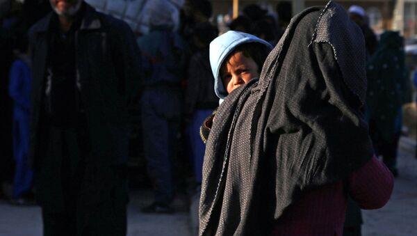Беженцы из провинции Газни в Афганистане - Sputnik Ўзбекистон