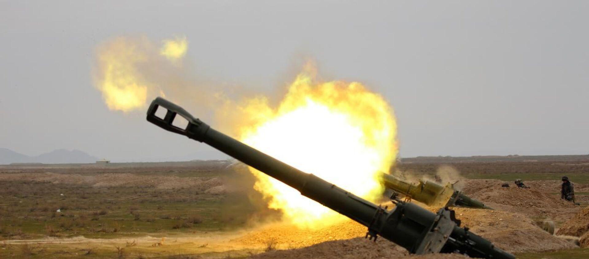 Артиллеристы армии Узбекистана продемонстрировали новые способы ведения огня - Sputnik Ўзбекистон, 1920, 10.12.2020