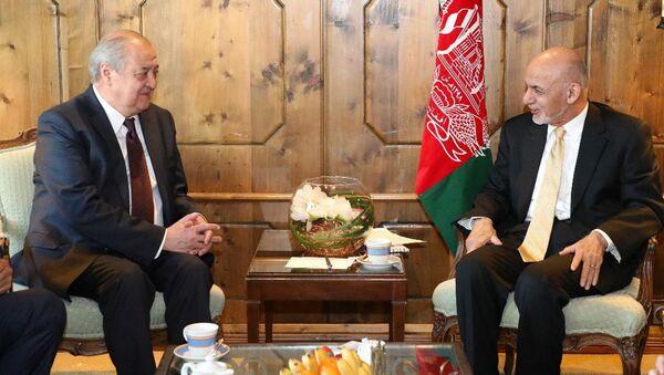 Делегация Республики Узбекистан во главе с министром иностранных дел Абдулазизом Камиловым, участвующая в Мюнхенской конференции по безопасности, 14 февраля 2019 года встретилась с президентом Исламской Республики Афганистан Мухаммадом Ашрафом Гани - Sputnik Узбекистан