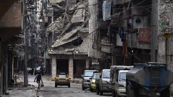 Razrushennыy rayon siriyskogo Aleppo - Sputnik Oʻzbekiston
