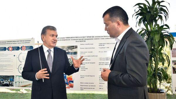 Шавкату Мирзиёеву представлены важные для экономики Сырдарьинской области проекты - Sputnik Ўзбекистон