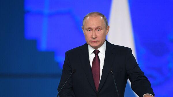 Ежегодное послание президента РФ В. Путина Федеральному Собранию - Sputnik Ўзбекистон