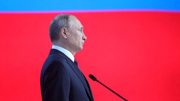 Ежегодное послание президента РФ В. Путина Федеральному Собранию - Sputnik Узбекистан
