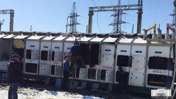 На территории электростанции в Кибрайском районе Ташкентской области произошел пожар - Sputnik Ўзбекистон