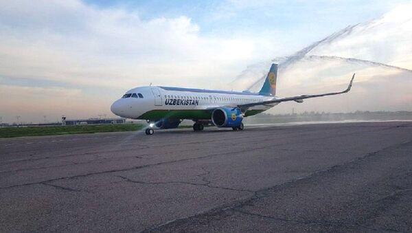 Самолет Airbus-320neo авиакомпании Узбекистон хаво йуллари - Sputnik Ўзбекистон