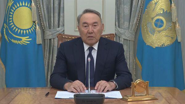 Обращение Нурсултана Назарбаева к народу Казахстана по случаю своей отставки - Sputnik Ўзбекистон