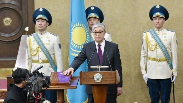 Касым-Жомарт Токаев принес присягу на посту президента Казахстана - Sputnik Узбекистан