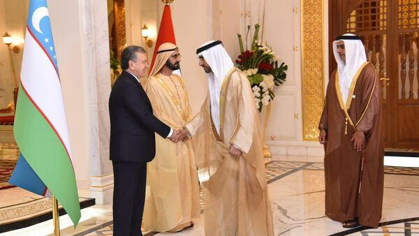 Шавкат Мирзиёев встретился с вице-президентом, премьер-министром ОАЭ, эмиром Дубая Шейхом Мухаммадом бин Рашидом Аль Мактумом. - Sputnik Узбекистан