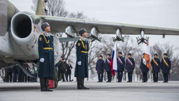 Су-25 российской авиабазы Кант в Киргизии присвоено имя Героя Советского Союза летчика И. Таранчиева - Sputnik Ўзбекистон