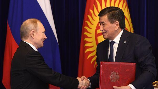 Государственный визит президента РФ В. Путина в Кыргызстан - Sputnik Ўзбекистон