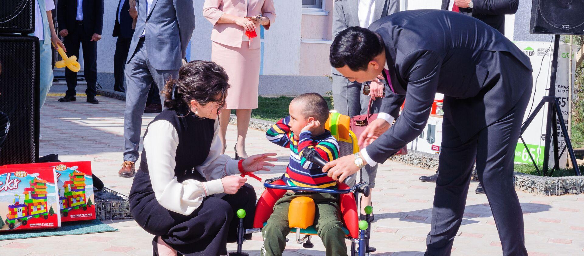Открытие первого в Узбекистане специализированного дошкольного учреждения с реабилитационным центром - Sputnik Ўзбекистон, 1920, 05.04.2019