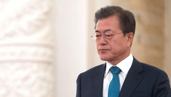 Президент Республики Корея Мун Чжэ Ин - Sputnik Узбекистан
